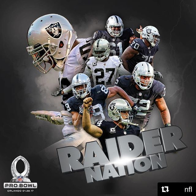 #Repost @nfl The team with the most players selected to the #ProBowl this season? How about those @raiders...