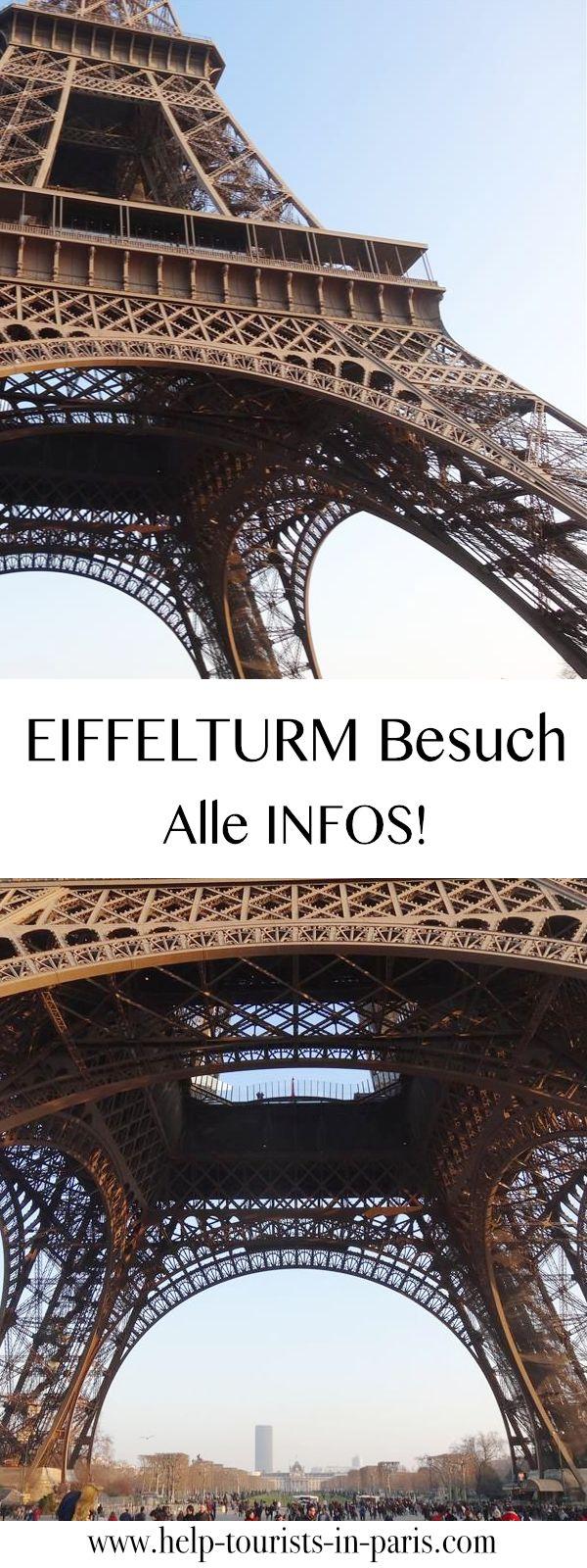 Nützliche Tipps und Infos für deinen Eiffelturm Besuch. Inkl. Öffnungszeiten, Preise, Eintritt und Sicherheitsvorschriften für den Eiffelturm.