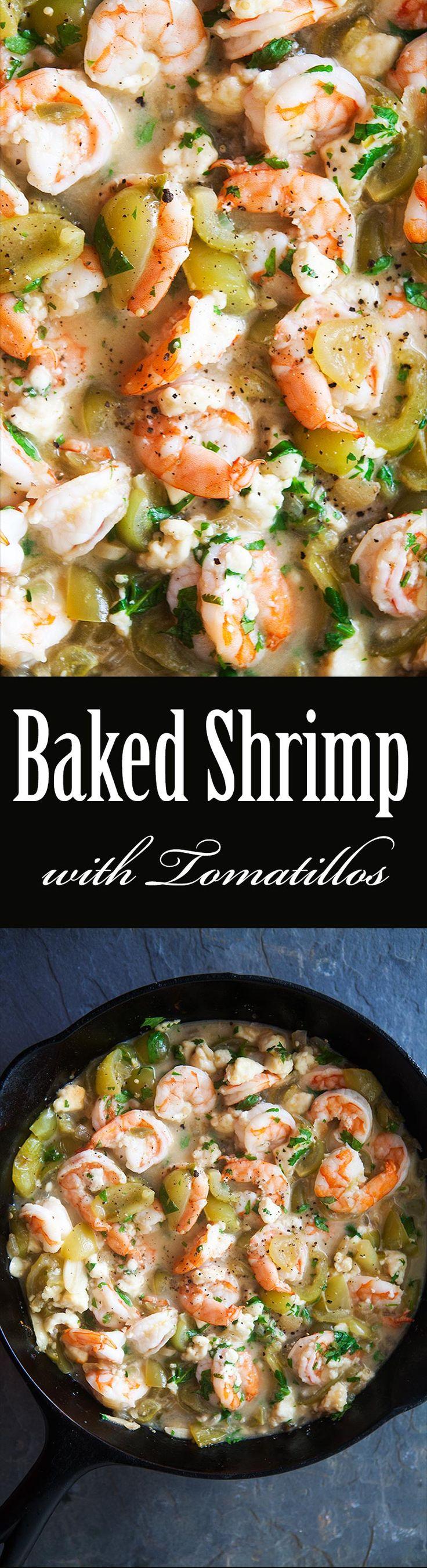 Baked Shrimp with Tomatillos | Recipe | Baked Shrimp, Shrimp Dishes ...