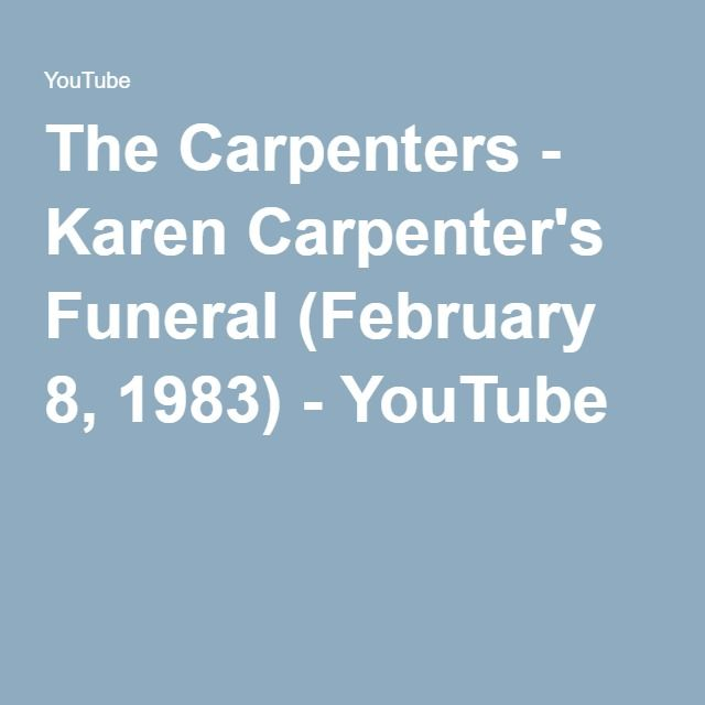 The Carpenters - Karen Carpenter's Funeral (February 8, 1983) - YouTube