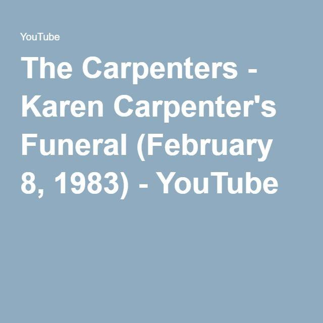 The Carpenters - Karen Carpenter's Funeral (February 8, 1983) - YouTube