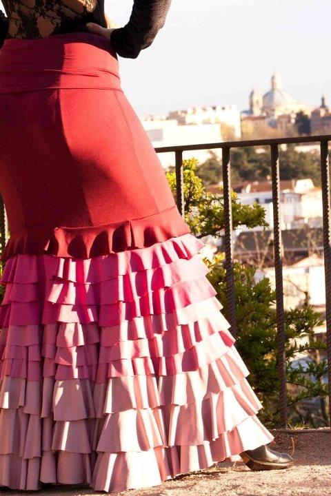 Multi-coloured Flamenco skirt