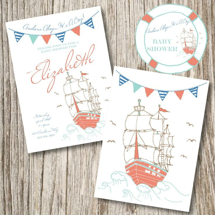 96 Best Images About Steph's Pirate/Nautical Baby Shower On Pinterest
