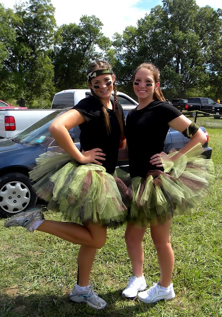 Warrior dash camo skirt .. Cute!  Jenna this is for us
