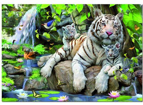 Educa pussel, Vita tigrar