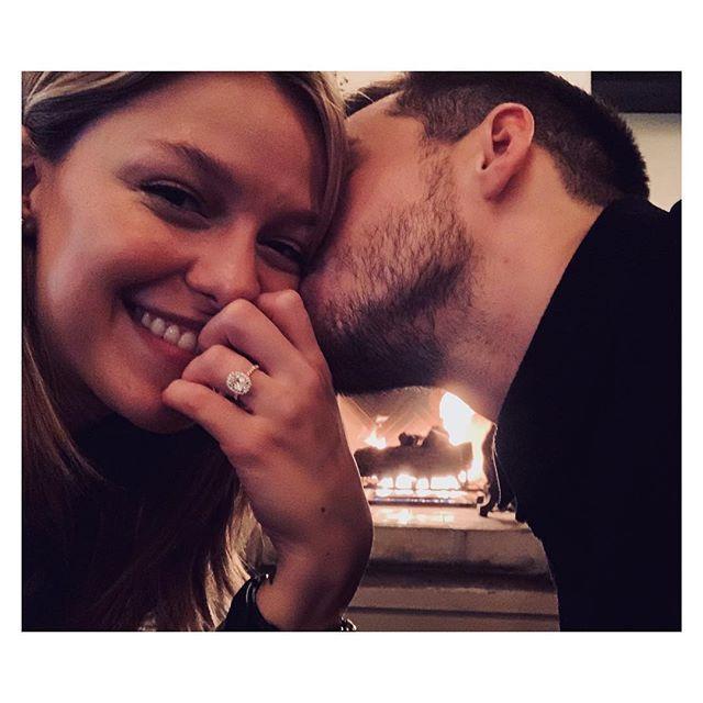 Supergirl Stars Melissa Benoist And Chris Wood Engaged Chris Wood Melissa Benoist Engaged Melissa Benoist