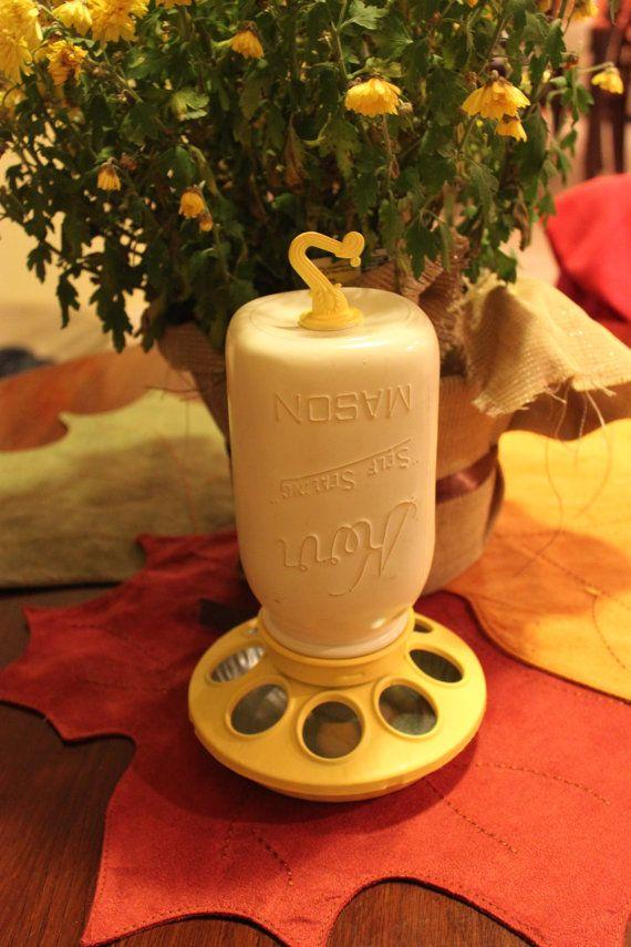 Kerr Mason Jar Chicken Feeder Repurposed Mason by PrettySimply