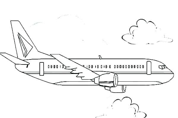 Aeroplane Coloring Page Jet Engine Coloring Pages Rocket Engine