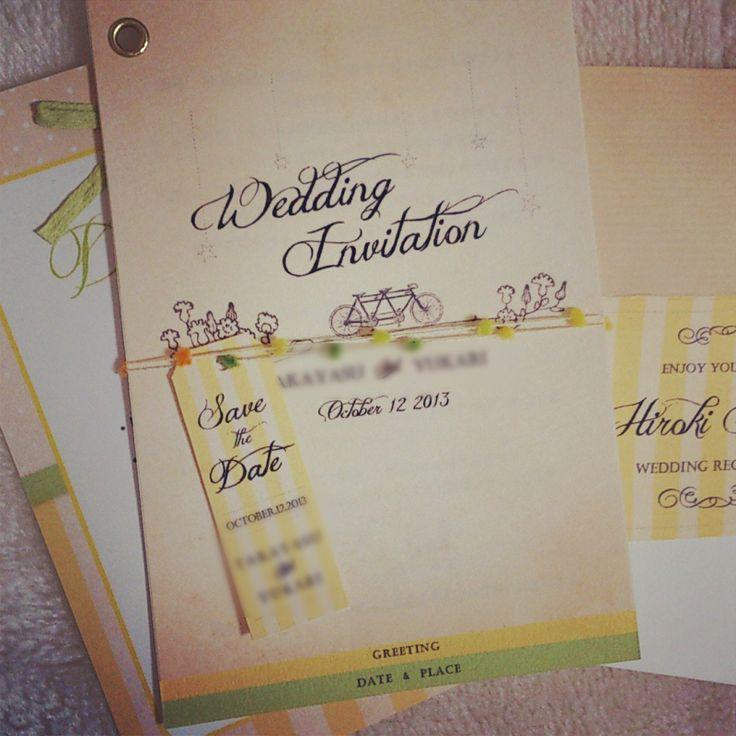 手作り招待状の作り方|nico◡̈*blog 手作り結婚式