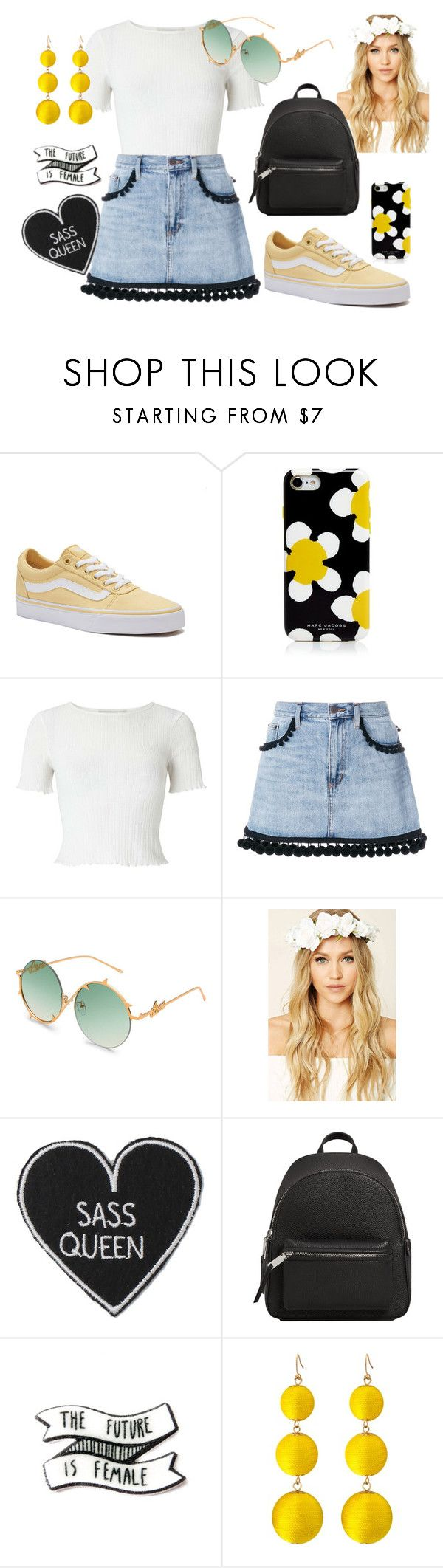 """Summers Day"" by chalotteleah on Polyvore featuring Vans, Marc Jacobs, Miss Selfridge, Forever 21 and MANGO"