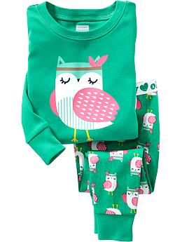 two piece pj sets... she doesn't want to wear footie pajamas anymore!