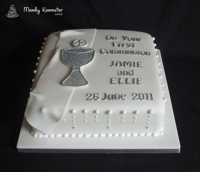 Think I may go with this cake for my son's 1st Communion