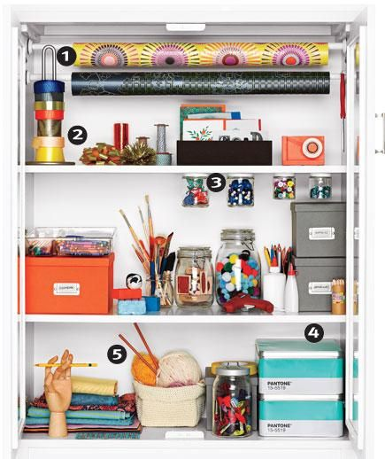 Beautifully organized craft and gift wrap cupboard!: Organization, Wrapping Papers, Tension Rods, Closet, Storage Ideas, Crafts