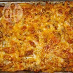 Ovenschotel met kip en chorizo