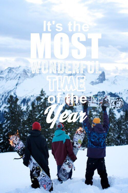 It's the most wonderful time of the year! #snowboarding #inspiration