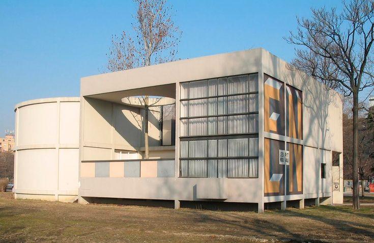 pavillon de l'esprit nouveau Le Corbusier 1925, refait à Bologne en 1977