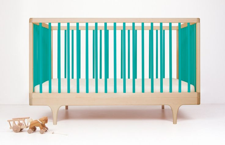 Kalon Studios caravan crib - colourful cots - green cot - nursery - go to your room!