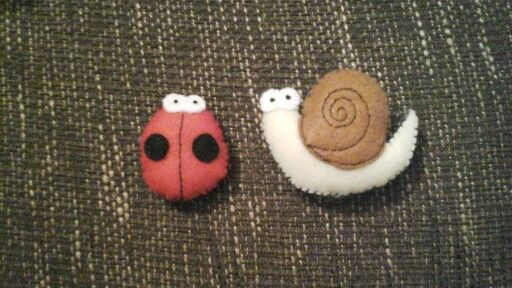 Ladybird and snail for garden animal garland