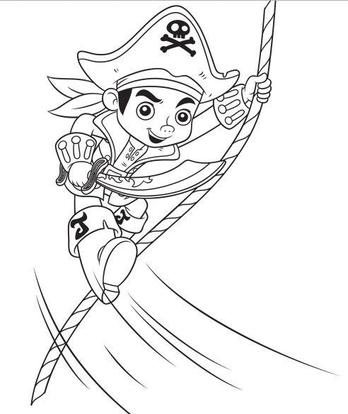 Dibujos De Capitán Jake Pirata Y Amigos Para Colorear
