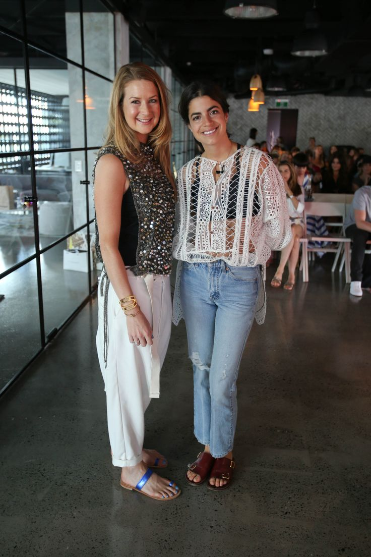 Susannah George of the Urban List with Leandra Medine of The Man Repeller before the RESORT Trailblazers panel