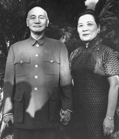 Chiang Kai-shek and Soong Mei-ling, c. 1962 - Chiang Kai-shek, Wade-Giles romanization Chiang Chieh-shih, official name Chiang Chung-cheng   (born Oct. 31, 1887, Chekiang province, China—died April 5, 1975, Taipei, Taiwan), soldier and statesman, head of the Nationalist government in China from 1928 to 1949, and subsequently head of the Chinese Nationalist government in exile on Taiwan.