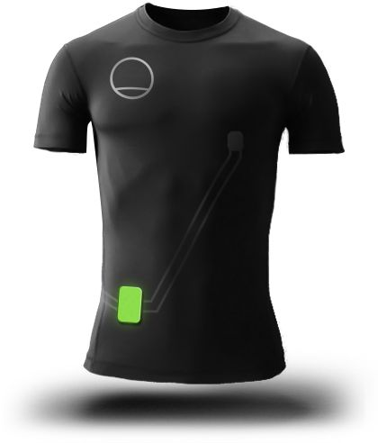 SleepShirt. Contains 2  thin-film respiration sensors that measure the movement of the shirt and body throughout the night for detection of #sleep #apnea. From Rest Devices, www.restdevices.com