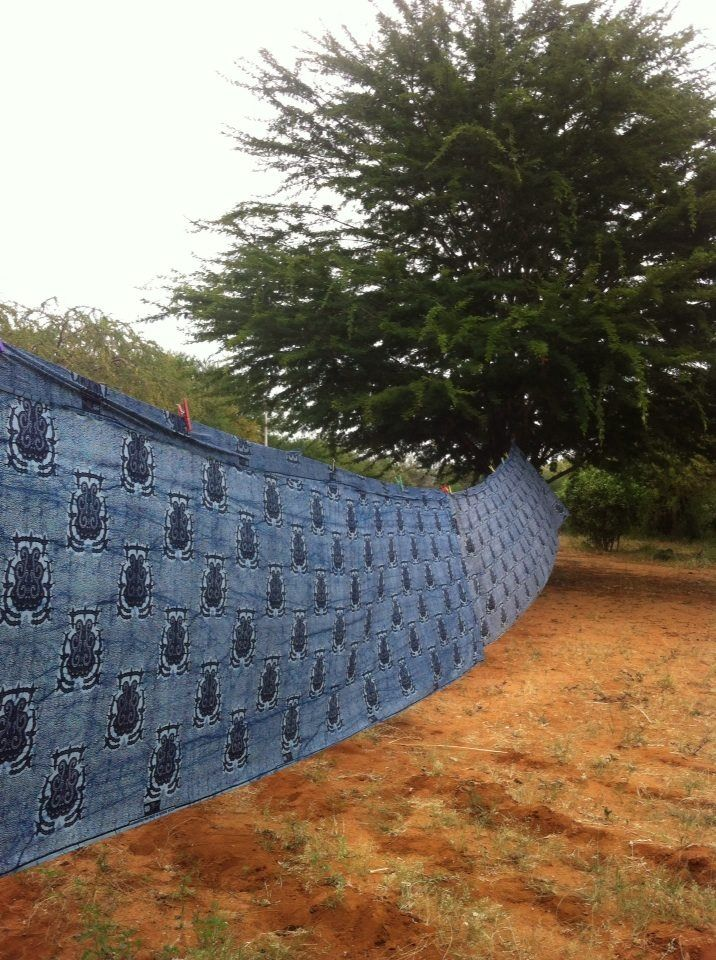 Kilambi fabric drying in the sun at our eco/ethical manufacturer in rural Kenya!