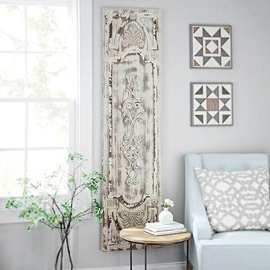 Distressed Vintage Door Wooden Panel Window Wall Decor