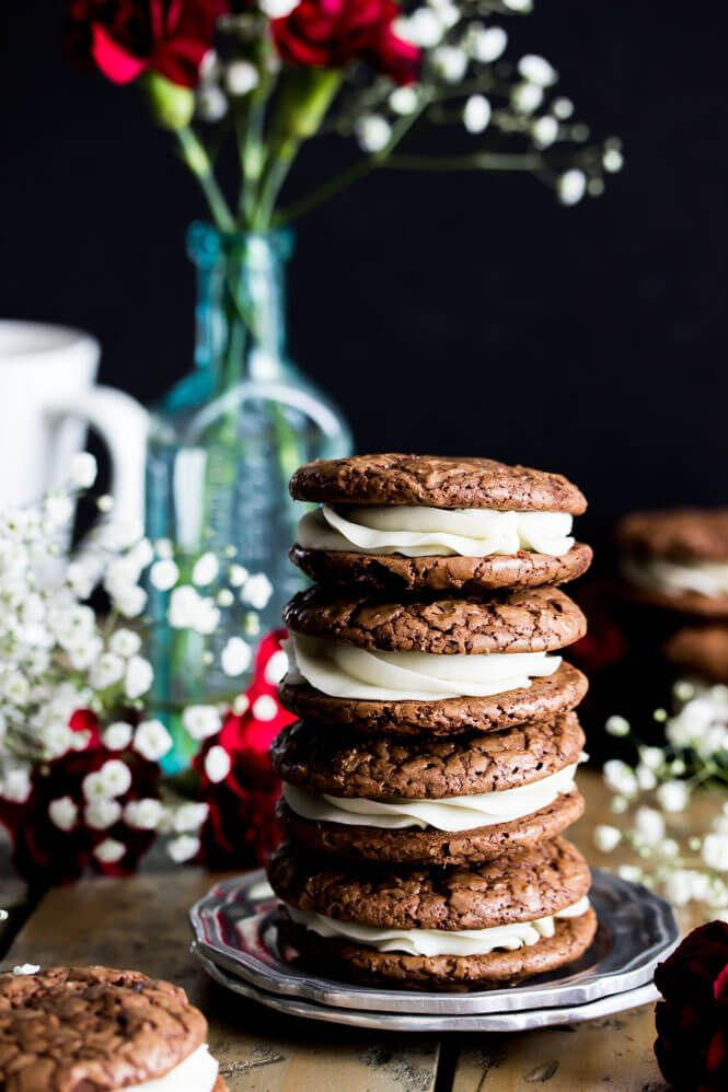 Chocolate espresso and cream sandwich cookies are filled with a vanilla cream and rich chocolate centers for perfect, sweet pick-me-ups any time of the day.