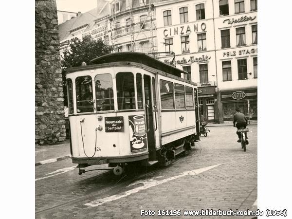 Straßenbahn am Hahnentor, Rudolfplatz, 50674 Köln - Altstadt-Süd (1956)