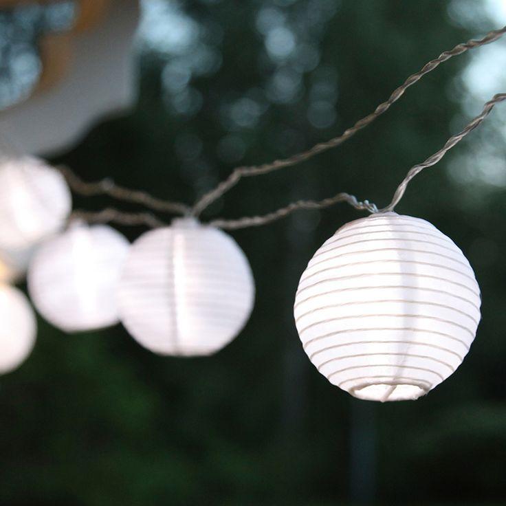 Risboll ljusslinga 10 LED i tyg vit - Hem & Trädgård