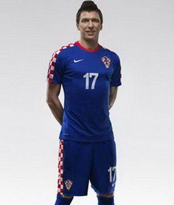 Nueva Camiseta del croacia segunda por Mundo 2014 Thailand