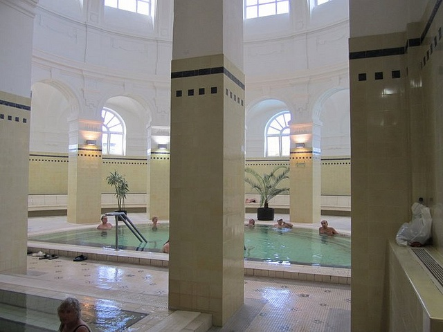 Szecsenyi indoor baths in #Budapest, Hungary by adriennw, via Flickr
