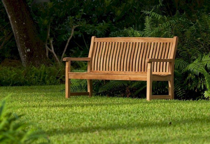 fine 31 Teak Garden Benches Ideas for Wonderful Outdoor Space