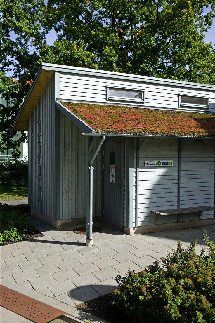 Gröna tak anläggs ofta på småhus som miljöhus, entrétak och cykelgarage. Totalt hade MKB Fastighets AB 9 500 kvadratmeter gröna tak 2015.
