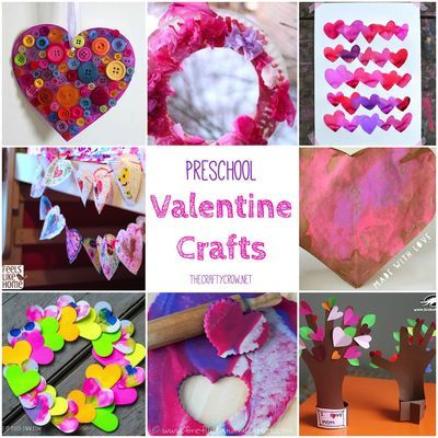 The Crafty Crow Valentine crafts for preschoolers - fun activities for grandkids and grandparents!