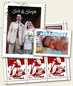 Timbre personnalisé : Créer , Télécharger et Imprimer vos timbres personnalisés à partir d'une photo personnelle fête des secrétaires