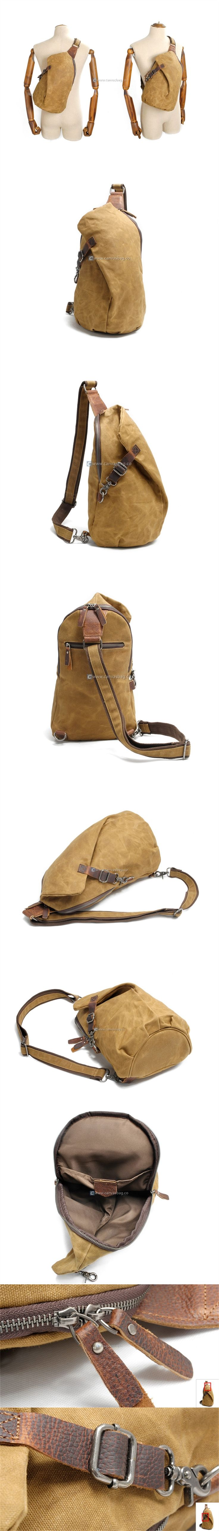 Waxed Canvas Handbags Canvas Sling Backpack