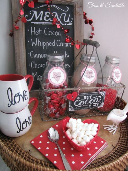 Sweet Valentine's Day hot chocolate bar!