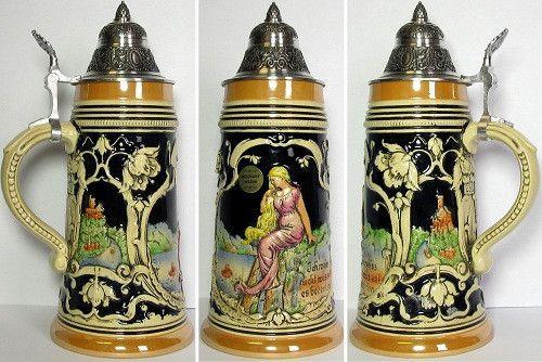 0.5 Liter Legend of the Loreley German Stein