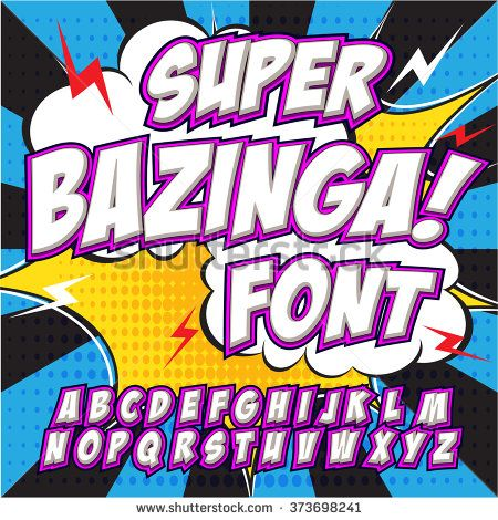 Creative high detail comic font. Alphabet in the style of comics, pop art…