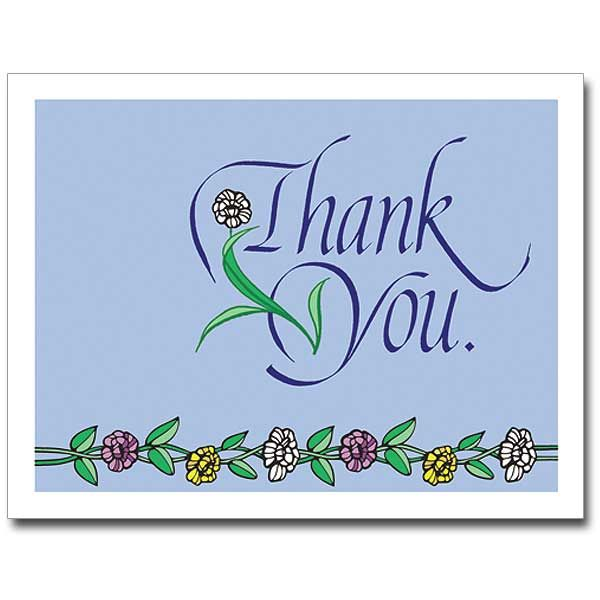 petite note religious thank you card  blank inside so you