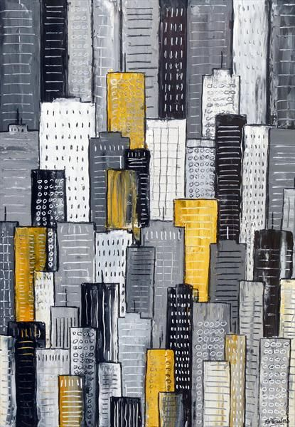 City in Yellow and Grey by Simon Fairless