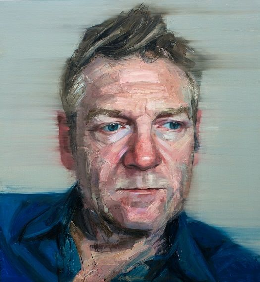 Colin Davidson...........Portrait of Sir Kenneth Branagh  2013 oil on linen 127 x 117 cm