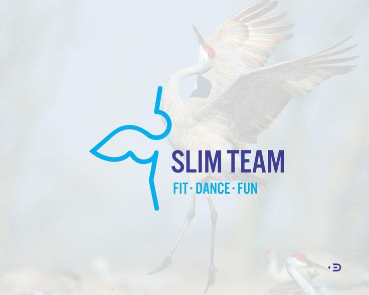 Logo, mark for SlimTeam by ©Edoudesign. SlimTeam. Fit Dance Fun - dance weight loss program  Логотип для SlimTeam от ©Edoudesign - специальная танцевальная программа для похудения.  #похудение #фитнесс #танцы #команда #логотип #знак  #slim #team #dance #fit #fun #weight #crane #edoudesign #logomaker #symbol #mark #logo #logotype #typetopia #typetopialogolove #calligritype #goodtype #designspiration #logoplace #logoinspirations #typografi #typematters #thedesigntip #thedailytype #typography