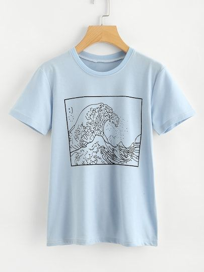 77757d6bc969 Graphic Print Tee in 2019 | Clothing|Weekend Casual | Graphic shirts ...