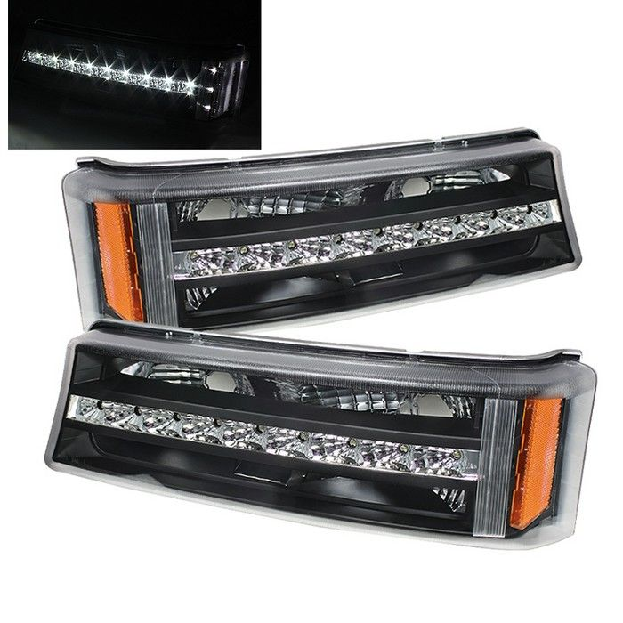 2003-2006 Chevy Silverado Amber LED Bumper and Corner Lights