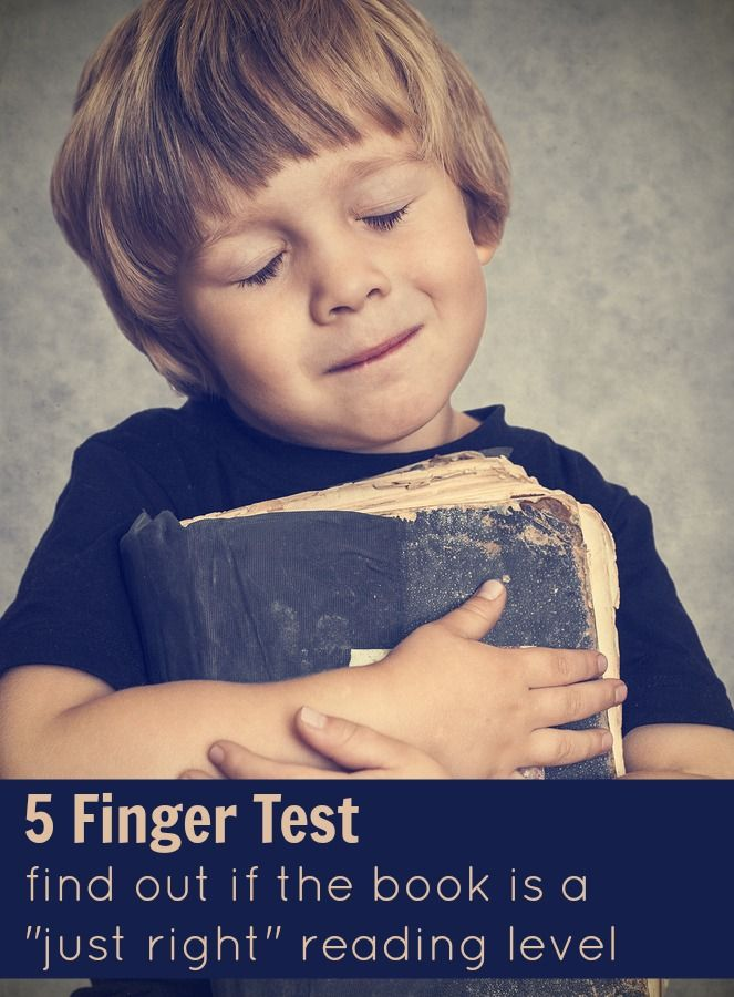 Use the 5 Finger Test to pick a book at a just-right reading level