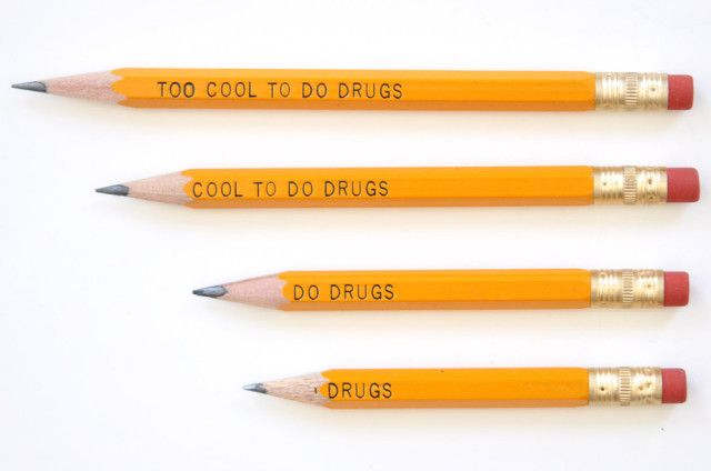 Why Design is Important, part 65535: the Cool to Do Drugs Pencil