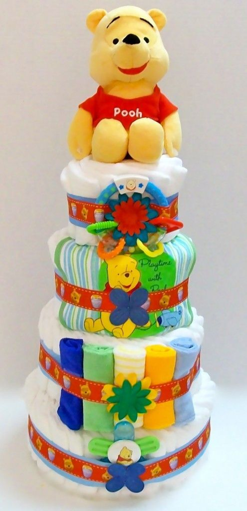 Disney Winnie The Pooh Diaper Cake....  Take a look at even more by clicking the picture